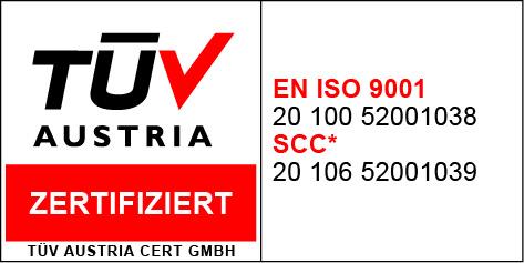 TÜV AUSTRIA CERTIFICATE